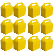 VALUE PACK 12 x Choose Your Colour Paper Lunch / Going Home Present / Picnic Boxes (Yellow) by My Planet