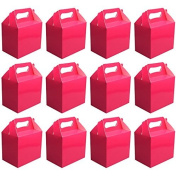 VALUE PACK 12 x Choose Your Colour Paper Lunch / Going Home Present / Picnic Boxes (Hot Pink) by My Planet