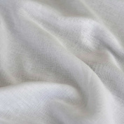 "White Egyptian Muslin Cotton Fabric Cloth Premium Voile 60"" 150cm Wide - Sold By the Metre"
