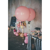 Treasure-house 90cm pink Party Balloons with Glitter Paper Circle Garland and ribbon for Birthday Wedding Decorations