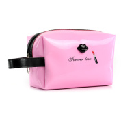 Women Female Travel Portable Cosmetic Case Cosmetic Bag Woman Bags Multi-function Makeup Bag Pink Color