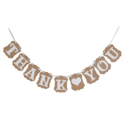 SevenMye THANK YOU'Wedding Bunting Banner Photo Booth Garland Props Anniversary Bridal Party Outdoor Home Decoration