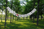 SevenMye JUST MARRIED'Wedding Bunting Banner Photo Booth Garland Props Anniversary Bridal Party Outdoor Home '
