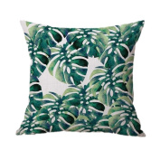 Indexp Natural Aloe Banana Leaf Printing Throw Cushion Cover Sofa Home Decoration Pillow case