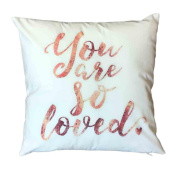 Indexp Ultra-velvet Letter Printing Throw Cushion Cover Sofa Home Decoration Pillow case