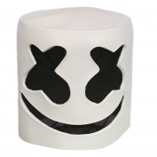 Cosplay Costume Helmet Full Head White Latex Mask Fancy Dress Replica for Adult Halloween Accessories Merchandise