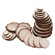 Sld 5-6cm Natural Wood Slices Discs for DIY Craft, Pine tree Slices Coaster, Wedding and Party Decoration 25PCS
