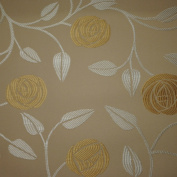 Charles Rennie Mackintosh Style Fabric - Eden Roses Skye Sand, Sample 10 x 14 cm