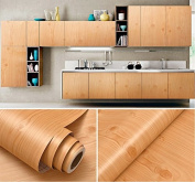 Faux Wood Grain Contact Paper Vinyl Self Adhesive Shelf Drawer Liner for Kitchen Cabinets Shelves Table Desk Dresser Furniture Arts and Crafts Decal 60cm by 4.9m
