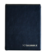 SCHULZ Coin Album for 120 MEDIUM sizes coins - best for 50p 50 pence £1 £2 €1 €2 - 10 pages - BLACK