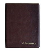 SCHULZ Coin Album for 120 MEDIUM sizes coins - best for 50p 50 pence £1 £2 €1 €2 - 10 pages - BROWN