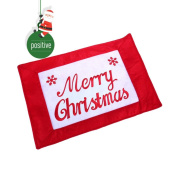 Wanshop Christmas Bowl Fork Placemat, A lovely Dinner Mat For The Christmas English Meal Pad