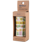 Allton Decorative Washi Tape Assorted Widths, Multi-Colour, 5.08 x 12.7 x 5.08 cm