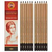 Koh-i-noor Gioconda - Dark Brown Sepia. 12 Pencils. 8804