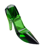 Urazv Cinderella Crystal Shoes High Heels Decoration Creativity Birthday Gifts Crafts Romance Valentine's Day Gift Girlfriend,B:Green-Large