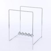 Yrazv Ornament Home Ornament Creative Gift Perpetual Motion Machine Magnetic Gyro Never Stop Newton Pendulum Desk,B:MetalStentNewtonPendulum