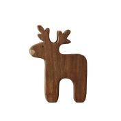 Yrazv European American Home Ornament Desktop Creative Ornament New Year Christmas Gift Solid Wood Deer,Deer