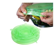 ULOOIE Silicone Stretch Pan Cover Stretch Lids Kitchen Tools