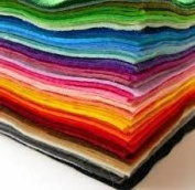 Assorted 15 x A4 Felt pack- 15 assorted colours in 15 Sheets