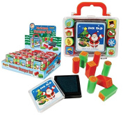 Cute Kids Christmas Ink Pad with 8 Stampers in Carry Case