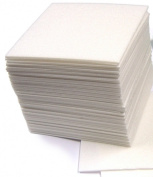 Safe Print Lino Block Printing Tiles - Polystyrene Sheets for Printing - 16.5 x 16.5cm Pack of 50 with Hints & Tips Guide