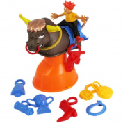 Kids Raging Bull Rodeo Buckaroo Bucking Bronco Toy Balance Game with Accessories (Age Group