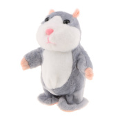 Sharplace Electronic Sound Recorder Toy Stuffed Vocal Hamster Mouse Doll Interactive Play with kids and Pets Girlfriend - Grey