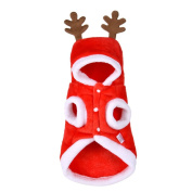 Christmas Tree Pattern Cute Antlers Hooded Pets Costume Clothes Dog Cat Santa Xmas Party Decorations Size 16/XL