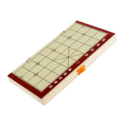 Sharplace Mini Foldable Board Game Chinese Traditional Game Gathering Party Game Portable Xiangqi Chinese Chess Set 25mm Pieces Diameter