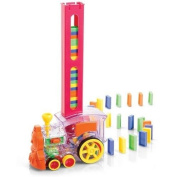 Lay & Play Domino Train Track Engine Light & Bell Tumbling Educational Game Toy