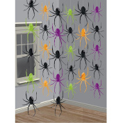 13m Halloween Spider String Hanging Party Decorations 2.1m Each Creepy Crawlies Dropping Web Doorway Curtain Streamer