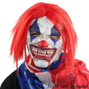 Clown Mask,XIAO MO GU Latex Rubber Red Hair Halloween Scary Clown Mask Decorations for Kid Adult