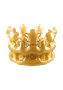 Inflatable Adult Gold King Queen Crown Fancy Dress Accessory Stag Hen Costume Party
