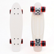 "3Style® Skateboards - 22"" Retro Mini-Cruiser Skateboard - The Perfect Complete Mini-Cruiser Skateboard   22"" X 6"" Deck   58 x 42 mm 78A PU wheels   ABEC-7 bearings"