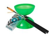 Henry's Diabolo Vision Set, Green, Incl. Henry's Aluminium Handsticks