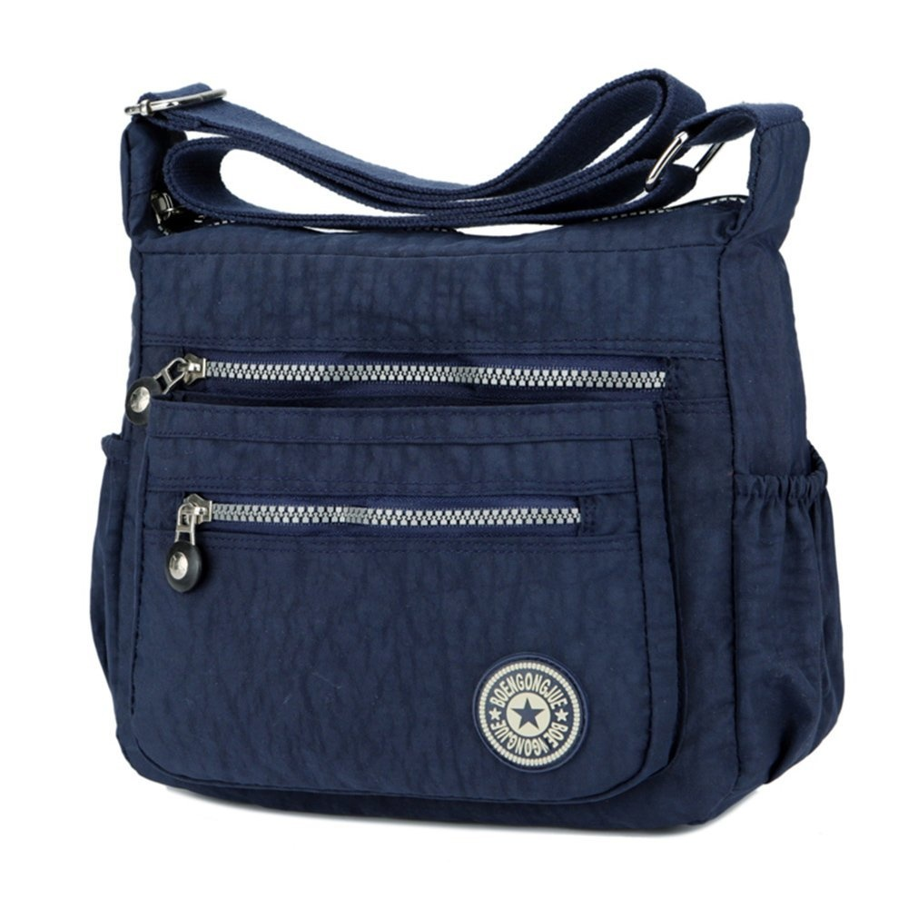 2aabcf556019 Women s Casual Multi Pocket Nylon Messenger Bags Cross Body Shoulder ...