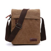 LOSMILE Men's Messenger Bag, Canvas Shoulder Bags, Touch Screen Tablet Messenger & Shoulder Bags for Work and School, Cross-Body Bags.