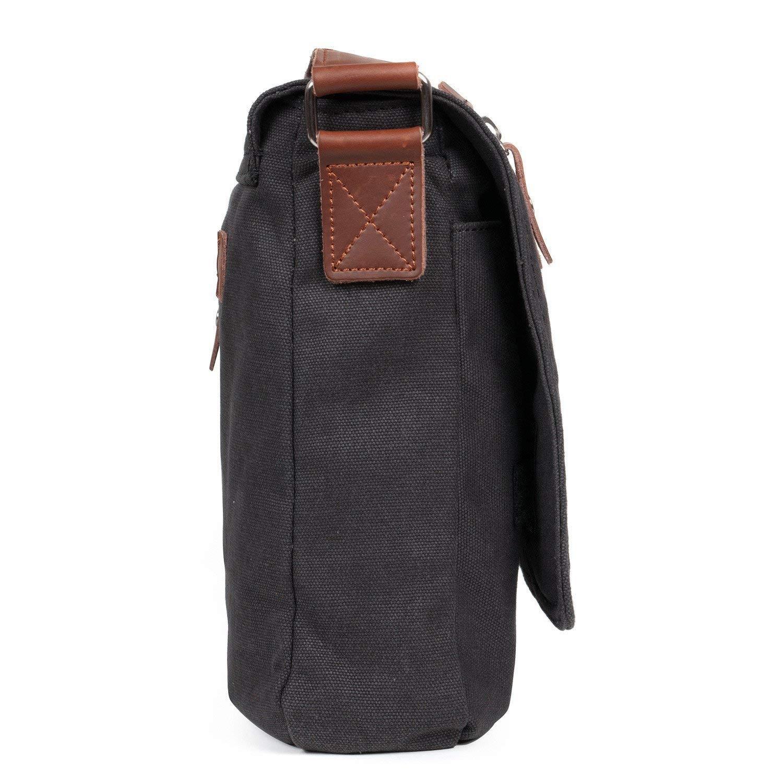 d9ac073ce8 LOSMILE Mens Canvas Messenger Shoulder Bag. (Black) by LOSMILE - Shop  Online for Bags in New Zealand