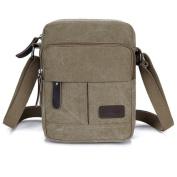 Koolertron Fashion Men's Retro lightweight Small Canvas Cross Body Everyday Satchel Bag (18 cm (W) x 21 cm (H) x 10 cm