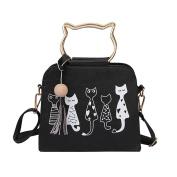 Womens Shoulder Bags, SHOBDW Women Cat Rabbit Animal Pattern Messenger Handbags Shoulder Crossbody Bag