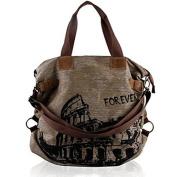 Aidonger Women's Vintage Canvas Shoulder Bag Handbag