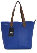 Big Handbag Shop Womans Designer Plain Soft Tote Shoulder Bag
