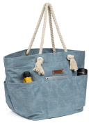 Malirona Large Canvas Travel Beach Shoulder Bags,6 pockets,44 L, 5 colour, Weekend holiday perfect bag