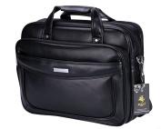 VIDENG POLO Extended 40cm Leather Briefcase Laptop Bags Business Messenger Bag Mens Handbag