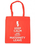 HippoWarehouse Keep Calm and Enjoy Maternity Leave Tote Shopping Gym Beach Bag 42cm x38cm, 10 litres