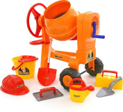 Polesie Polesie50649 Play Cement-Mixer with Bucket Set Worker Construct Toy