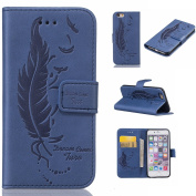 iPhone 6 Case,BONROY® iPhone 6 6S (12cm ) Painting design PU Leather Phone Holster Case, Flip Folio Book Case, Wallet Cover with Stand Function, Card Slots Money Pouch Protective Leather Wallet Case for iPhone 6 6S