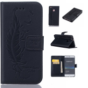 Huawei P9 lite Case,BONROY® Huawei P9 lite Painting design PU Leather Phone Holster Case, Flip Folio Book Case, Wallet Cover with Stand Function, Card Slots Money Pouch Protective Leather Wallet Case for Huawei P9 lite