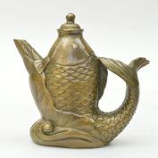 PENG Boutique exotic handmade bronze crafts business office boutique legislation carp type wine pot ornaments