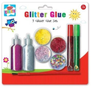 Arts and Crafts Glitter Glue Set, Plastic, Assorted Colour, 9-Piece By Kids Create